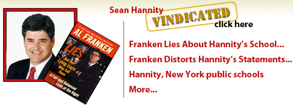 Sean Hannity is vindicated. Al Franken lies about Sean.