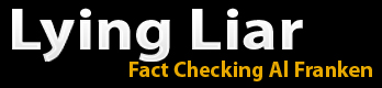 Lying Liar logo, fact checking Al Franken