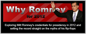 Exploring Mitt Romney's credentials for presidency in 2012 and setting the record straight on the myths of his flip-flops.